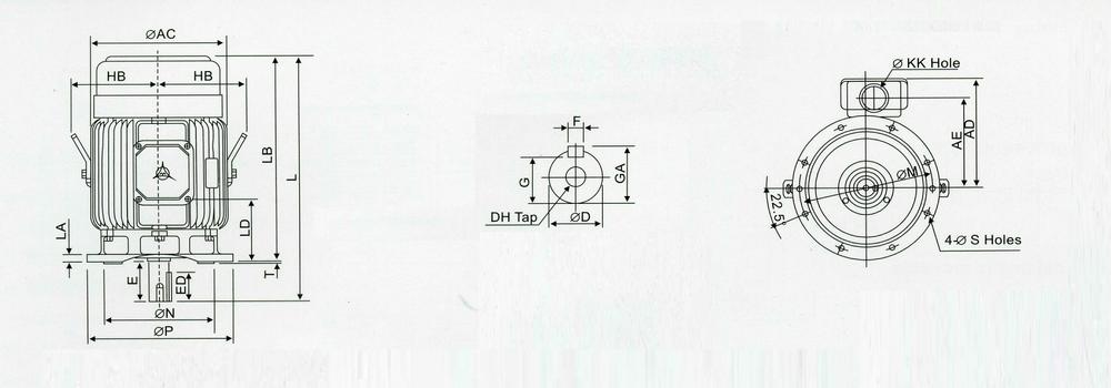 三相马达30槽4极接线图
